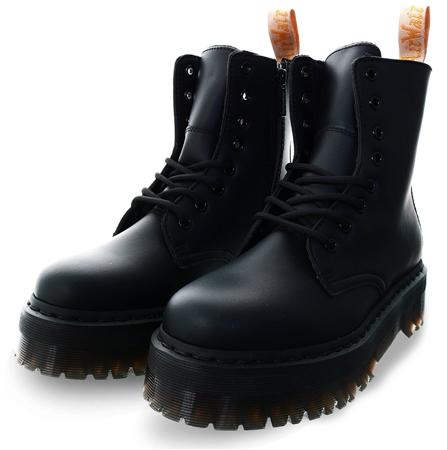 Dr Martens Black Vegan Jadon Ii Mono Platform Boots  - Click to view a larger image