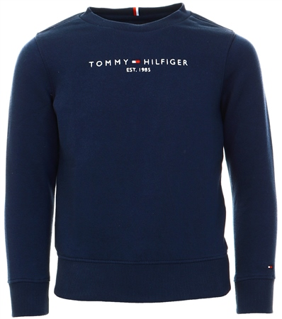 Tommy Jeans Black Iris Logo Embroidery Regular Fit Sweatshirt  - Click to view a larger image