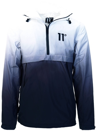 11degrees Black/White Waterproof Hurricane Jacket  - Click to view a larger image