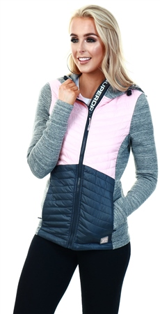 Superdry Oyster Pink Storm Classic Hybrid Jacket  - Click to view a larger image