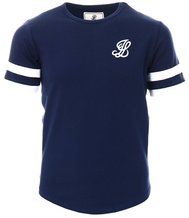 Illusive London Navy & White Tournament Tee  - Click to view a larger image