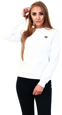 11degrees White Core Sweatshirt  - Click to view a larger image