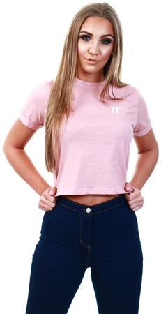 11degrees Blush Core Cropped T-Shirt  - Click to view a larger image
