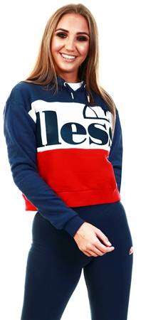 Ellesse Navy Allesandro Oh Cropped Hoody  - Click to view a larger image