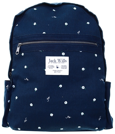Jack Wills Navy Portbury Backpack  - Click to view a larger image