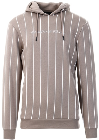 Kings Will Dream Dark Sand / White Clifton Pinstripe Hooded Top  - Click to view a larger image