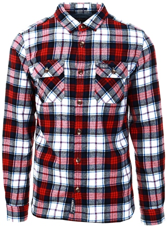 Superdry White Check Classic Lumberjack Shirt  - Click to view a larger image