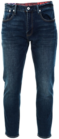 Superdry Byrom Dark Blue Conor Taper Jeans  - Click to view a larger image