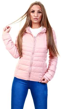 Only Pink / Misty Rose Short Quilted Jacket  - Click to view a larger image