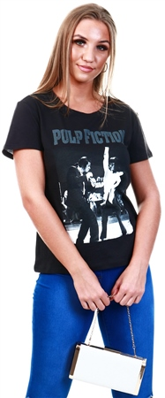 Only Black Pulp Fiction Printed T-Shirt  - Click to view a larger image