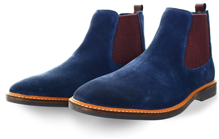 Cavani Navy Suede Chelsea Boot  - Click to view a larger image