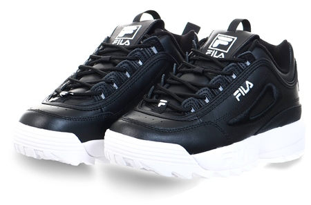Fila Black/White Disruptor 2 Trainers  - Click to view a larger image
