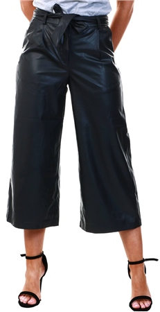 Veromoda Black Coated Culotte Trouser  - Click to view a larger image