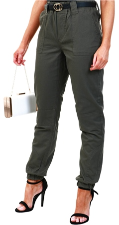 Jdy Green / Grape Leaf Worker Trousers  - Click to view a larger image
