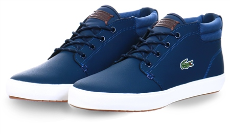 Lacoste Mblue Ampthill Terra Leather Chukkas  - Click to view a larger image