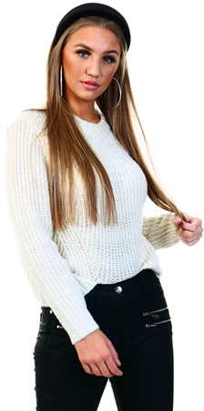 Only White / Whitecap Gray Long Sleeved Pullover  - Click to view a larger image