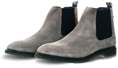 Base London Grey Suede Chelsea Boot  - Click to view a larger image