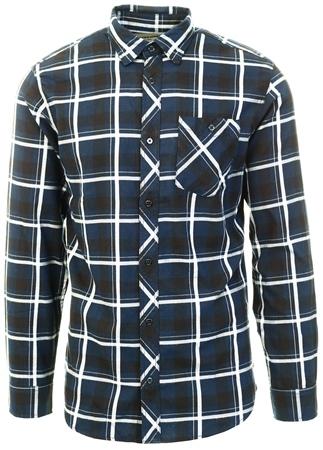 Jack & Jones Blue / Sky Captain Button-Down Shirt  - Click to view a larger image