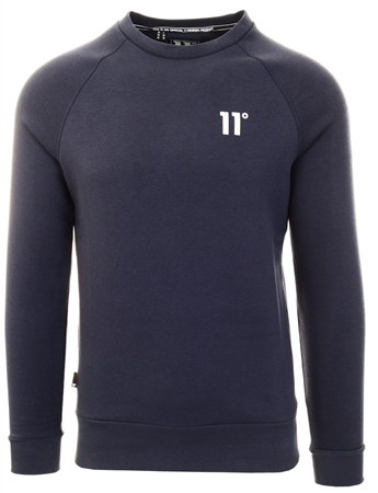 11degrees Navy Core Sweatshirt  - Click to view a larger image
