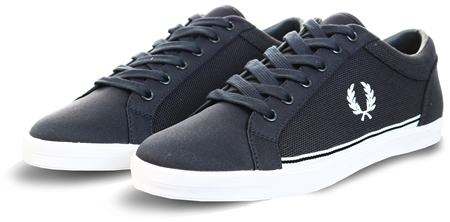 Fred Perry Navy Baseline Pique Shoes  - Click to view a larger image