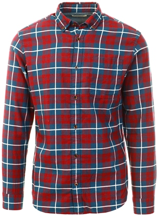 Jack & Jones Red / Port Royale Button-Down Shirt  - Click to view a larger image