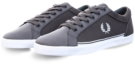 Fred Perry Grey Baseline Pique Shoe  - Click to view a larger image