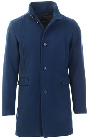 Selected Navy Wool - Coat  - Click to view a larger image