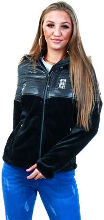 Superdry Black Storm Panel Hybrid Jacket  - Click to view a larger image