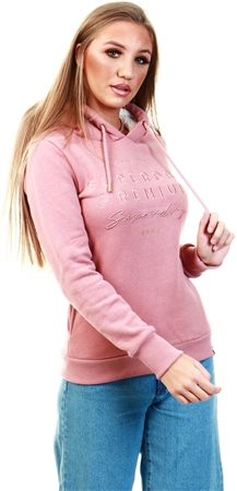 Superdry Smoke Rose Applique Hoodie  - Click to view a larger image