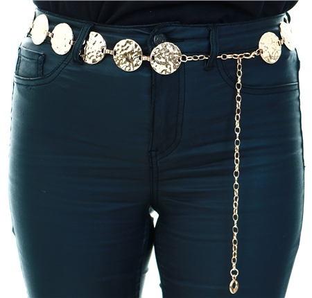 Impulse Gold Circle Chain Belt  - Click to view a larger image