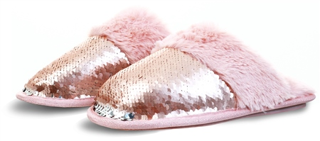 Pia Rossini Rose Gold Kasha Slipper  - Click to view a larger image