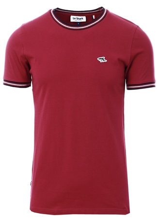 Le Shark Red Oldershaw Cotton Jersey T-Shirt With Racer Stripe  - Click to view a larger image