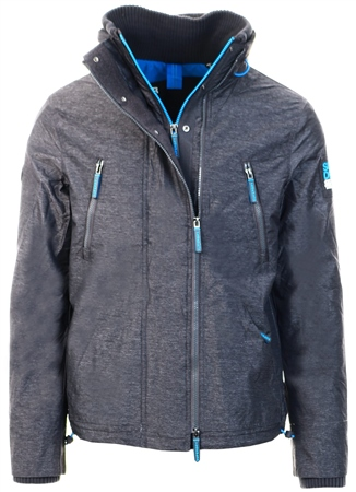Superdry Charcoal/Dark Grey Polar Sd-Windattacker Jacket  - Click to view a larger image