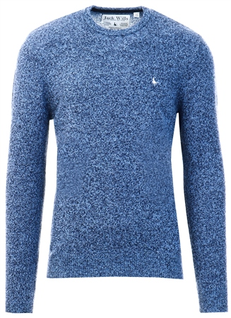 Jack Wills Sky Blue Rye Crew Neck Jumper  - Click to view a larger image