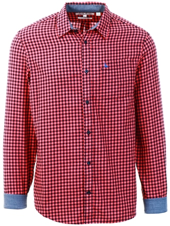 Jack Wills Red Newick Check Shirt  - Click to view a larger image