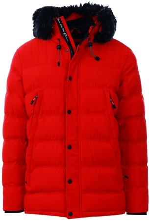 Kings Will Dream Red Frost Parka Jacket  - Click to view a larger image