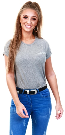 Jack Wills Grey Marl Baily T-Shirt  - Click to view a larger image