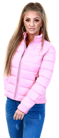 Jack Wills Pink Lorna Padded Jacket  - Click to view a larger image