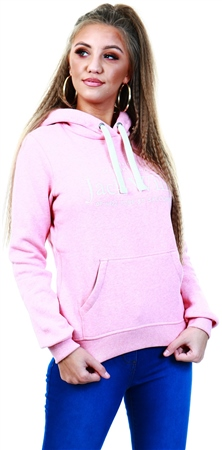 Jack Wills Pink Hunston Embroidered Graphic Hoodie  - Click to view a larger image