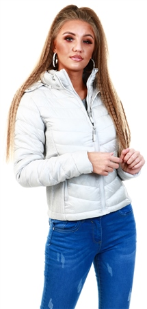 Superdry Pearl Hooded Luxe Chevron Fuji Jacket  - Click to view a larger image