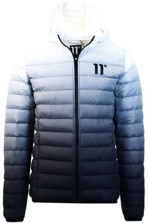 11degrees Black/White Space Puffer Jacket  - Click to view a larger image