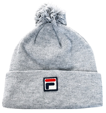 Fila Grey Wilson Pom Beanie  - Click to view a larger image