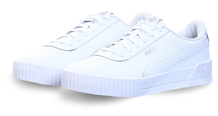 Puma White Carina P Trainers  - Click to view a larger image