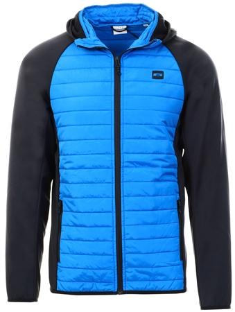 Jack & Jones Atomic Blue Quilt Hybrid Jacket  - Click to view a larger image