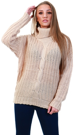 Qed Stone Chunky Knit Jumper  - Click to view a larger image