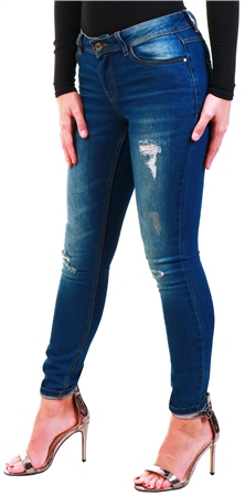 Jdy Denim / Dark Wash Denim Flora Reg Skinny Fit Jeans  - Click to view a larger image