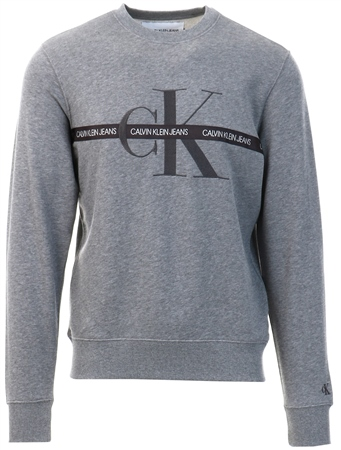 Calvin Klein Grey Logo Tape Sweatshirt  - Click to view a larger image
