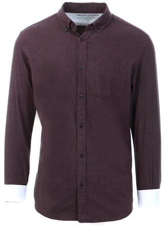 Jack & Jones Port Royale Melange Button-Down Shirt  - Click to view a larger image