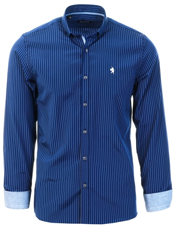 Alex & Turner Navy Pinstripe Shirt  - Click to view a larger image