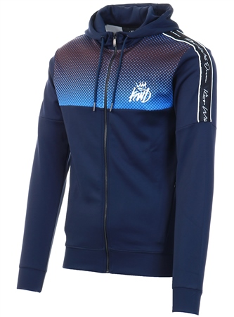 Kings Will Dream Navy / Cobalt Perez Full Zip Hooded Top  - Click to view a larger image